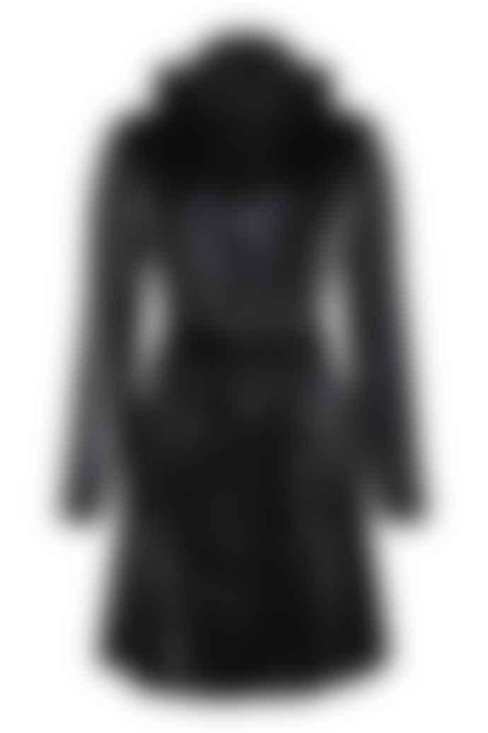 Rains Curve Jacket 1206 Velvet Black