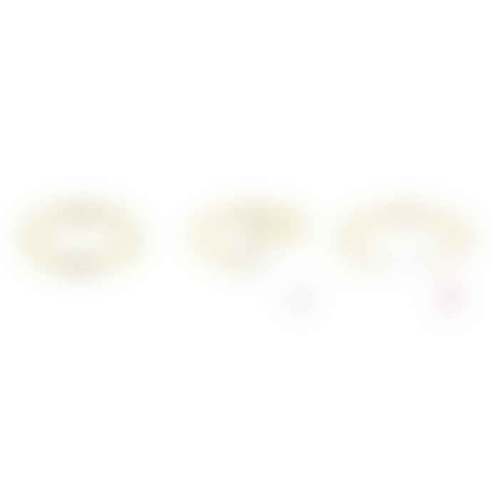 BY10AK Small Dots Hoop Earring - Gold