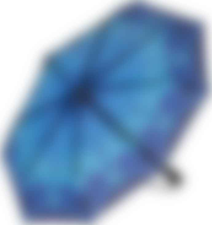 Soake Galleria Umbrella - Stained Glass Blue Butterfly