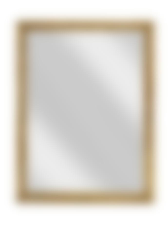 Nkuku Yadur Rectangular Mirror Antique Brass Large