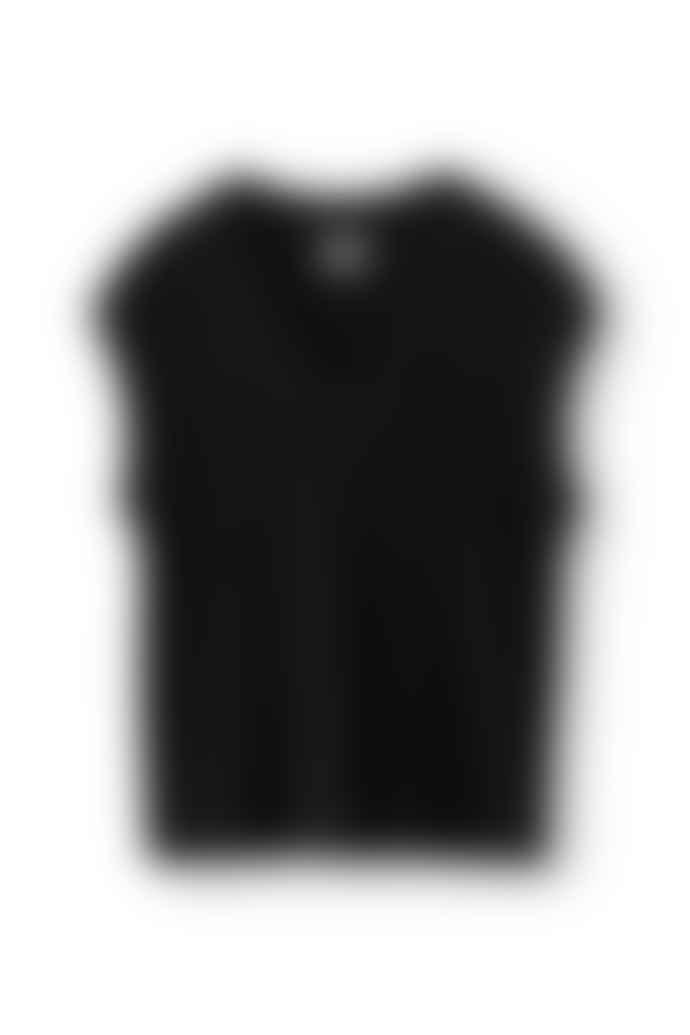 NORR Black Nordby V Neck Knit Waistcoat
