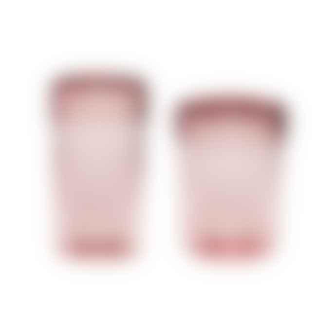 Hubsch Glass Storage Jars Pink