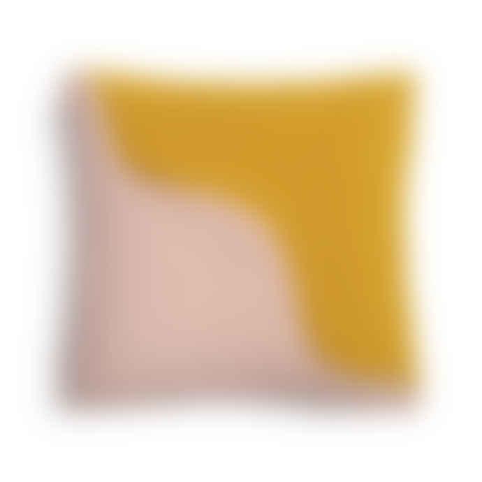 &klevering Wavy Sqaure Cushion Pink