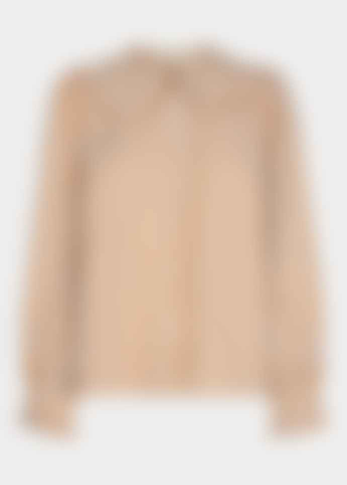 SOFIE SCHNOOR Checked Large Collar Shirt