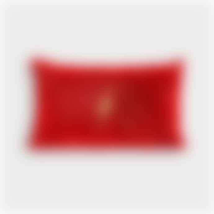 &klevering Cushion Lightning Red Rectangle
