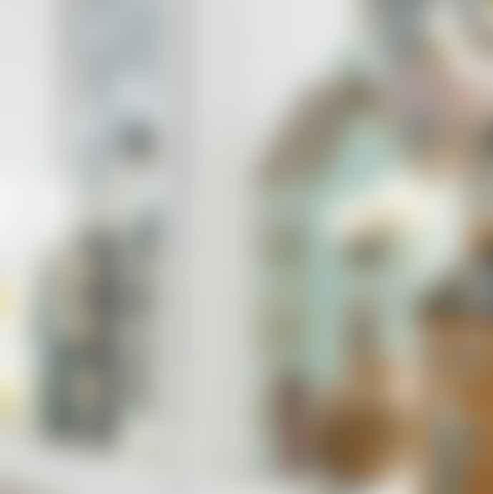 Ib Laursen Ceramic House For Tealight Tall Pale Blue