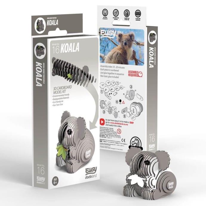 New Dodoland 3D Puzzle Model No.16 Koala EUGY Eco Friendley Toy Kids Fun