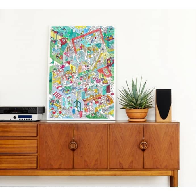 omy maison france home coloring poster
